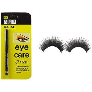 Ads 12 Hr Long Lasting Eye Care Soft Black Kajal and Imported Attractive Artificial Eyelashes -1 Pair