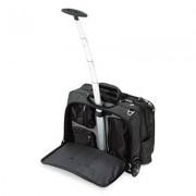 Contour Rolling Laptop Case, Nylon, 17-1/2 X 9-1/2 X 13, Black