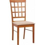TEMPO KONDELA Židle, třešeň/látka slabě hnědá, GRID