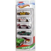 2011 Hot Wheels 5-Pack Holiday Hot Rods Shelby Cobra Concept/Dodge Charger SRT8/Saleen S7/69 Mercury