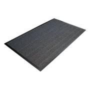 Šedá textilní čistící vnitřní vstupní rohož - délka 90 cm, šířka 150 cm a výška 0,7 cm