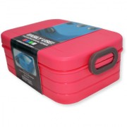 6th Dimensions Microwavable Air Tight Lunch Boxes Plastic Food Container (Red)