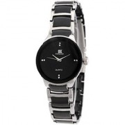 Parth IIK Oval Dial Black Metal Strap Analog Mens Watch By Parth8 Enterprise 6 MONTH WARRANTY