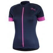 Női kerékpáros mez Rogelli szerény rövid ujj, kék rózsaszín 010.111.