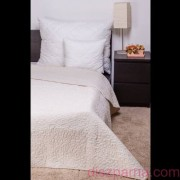 CLARA ekrü / márvány steppelés ágytakaró 235x250 cm