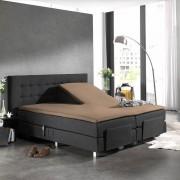 Home Care Splittopper Katoen - Home Care Taupe 180 x 200 cm
