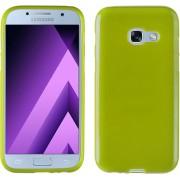 MP Case Samsung Galaxy A3 2017 / A3 2017 Duos Siliconen Hoesje TPU Groen Back Cover voor Samsung Galaxy A3 2017 / A3 2017 Duos Back Case