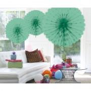 Merkloos Hangdecoratie mint groene waaier 45 cm