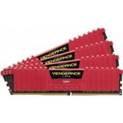 Memorie Corsair Vengeance LPX 16GB Kit 4x4GB DDR4 2400MHz CL14 Red
