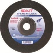 United abrasivos/Sait 24225 7-inch por 1/10.2 cm por 7/8-inch acero xa24q centro deprimido rueda tipo 27, 25-Pack