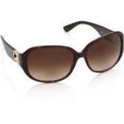 Salvatore Ferragamo Rectangular Sunglasses(Brown)