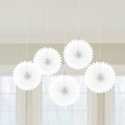 Decoratiune rotunda model evantai alb