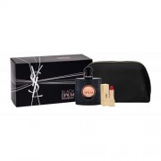 Yves Saint Laurent Black Opium set cadou EDP 50 ml + ruj de buze Rouge Pur Couture 1,3 ml teinte 1 + geanta pentru femei