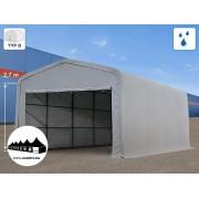 5x8x2,7m Wikinger raktársátor/ 550g/m2 PVC ponyva (Wikinger)