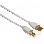 Hama Gold-plated Double Shielded White Usb 2.0 Cable (1.8m)