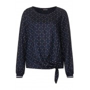 STREET ONE Blouse met ankerprint - deep blue