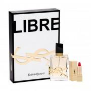 Yves Saint Laurent Libre darčeková kazeta pre ženy parfumovaná voda 50 ml + rúž Rouge Pur Couture 1,6 g No.1