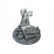 Nonalla Ellinad Female Elf Wizard Miniature 03667 on 45mm Wizards Display 3D Printed Display Base