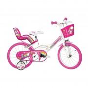 Bicicleta pentru copii Dino Bikes Unicorn, 16 inch