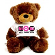 2 feet big brown teddy bear wearing a Mother's Day T-shirt