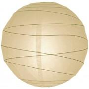 "WeGlow International 8"" Beige Free-Style Ribbed Paper Lantern (Set of 3)"