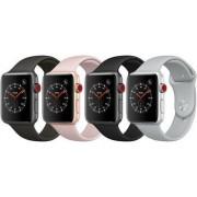 Apple Wie neu: Apple Watch Series 3 38 mm Aluminium GPS silber Sportarmband weiß