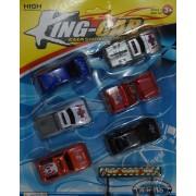 6db műanyag autó szett gyerek játék- King-car