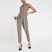 River Island Womens Grey sleeveless tailored jumpsuit - Size 42 (EU)