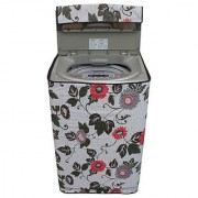 Dream CareFloral And Leafy Multi coloured Waterproof & Dustproof Washing Machine Cover For Haier HSW72-588A Fully Automatic Top Load 7.2 kg washing machine