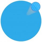 vidaXL Folie solară rotundă din PE pentru piscină, 488 cm, albastru