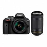 Nikon D3400 Kit AF-P 18-55mm VR +AF-P 70-300 VR
