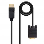 Nanocable Cabo Conversor DisplayPort para VGA Preto 2m