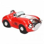 Geen Rode jongens sportauto cabriolet spaarpot 15 cm