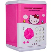Glorygifts Hello Kitty Piggy Bank Safe Box Money Coin ATM Bank Toy ATM Machine Kids Gift Money Box Digital Saving Boxes