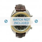 Giorgio Armani bracelet de montre AR-0501 Cuir croco Brun foncé 18mm