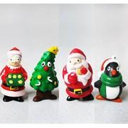 Christmas tree Christmas gift Santa Claus dolls Santa Claus penguin hang Christmas ornament