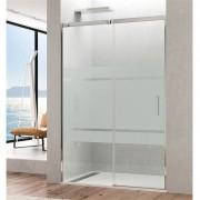 GME® - Painel frontal de duche 1 porta de correr com serigrafia TEMPLE - GME