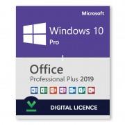 Paquete Windows 10 Pro + Microsoft Office 2019 Professional Plus - Licencias digitales - Software para descargar