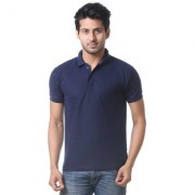 Calibro Mens NevyBlue Polo Neck T-shirt