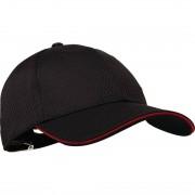 Chef Works Cool Vent baseball cap zwart en rood - Universele maat