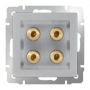 Акустическая розетка Werkel серебряный WL06-AUDIOx4