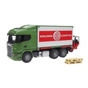 Bruder 3580 Scania R-Series Truck with Interchangeable Container and Forklift