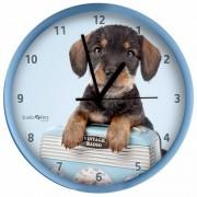 Geen Honden wandklok Teckel blauw 25 cm - Action products
