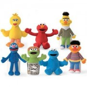 Sesame Street Plush Beanbag Character Collection 7 Piece Set by Gund Kids