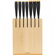 Fiskars - Functional Form Késblokk, 7 késsel, (nyers fa színű) (200259)
