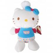 Jemini hello kitty knuffel fait la cuisine meisjes blauw 15 cm