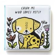 WEE GALLERY Livre de bain à colorier - Animaux domestiques