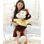 New 55cm Stuffed & Plush Animals monkey animal Light yellow plush toy