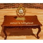 Ceas metalic vintage auriu - miniatura - decor papusi