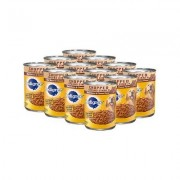 Pedigree Chopped Ground Dinner Beef, Bacon & Cheese Flavor Canned Dog Food, 22-oz, case of 12